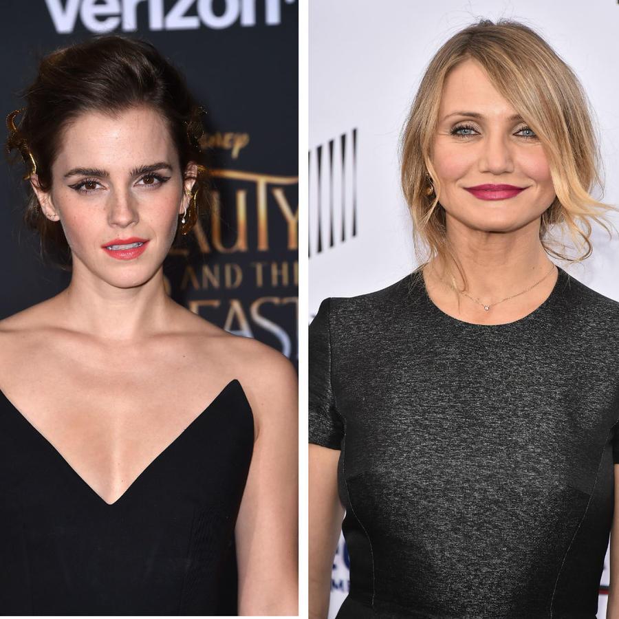 Emma Watson, Cameron Días y Khloé Kardashian de frente