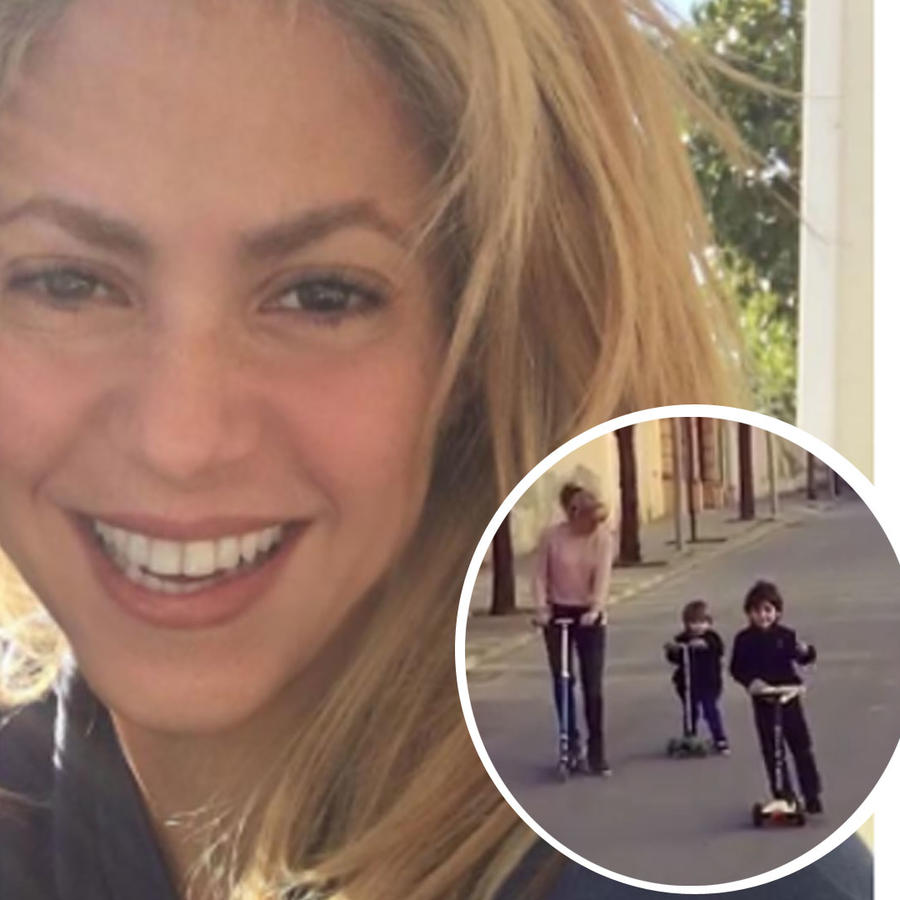 Hijos de Shakira andan en scooter