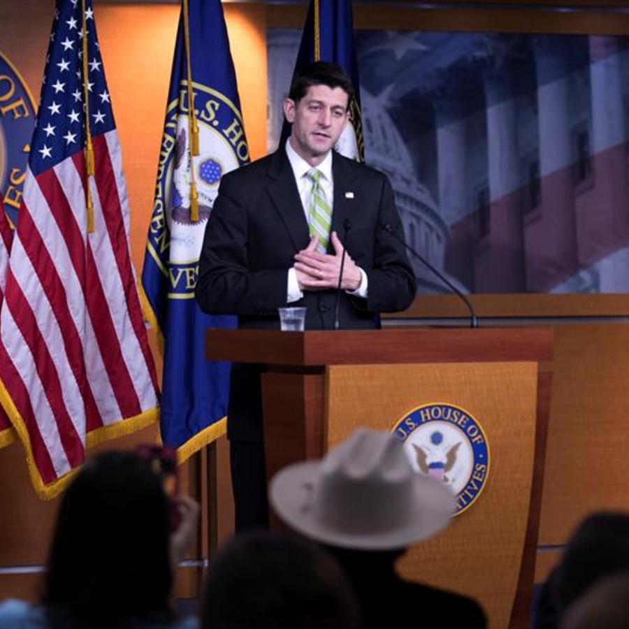 Líder de la Cámara de Representantes, Paul Ryan, habla sobre la retirada de la ley de salud