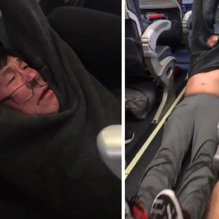 Golpean a pasajero de United Airlines.