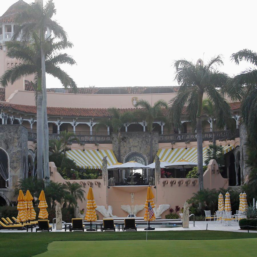 Esta foto tomada el 15 de abril del 2017 muestra el centro reacreativo Mar-a-Lago, del presidente Donald Trump, en Palm Beach, Florida.