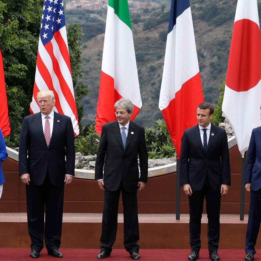 Mandatarios participantes en el G7 en Italia