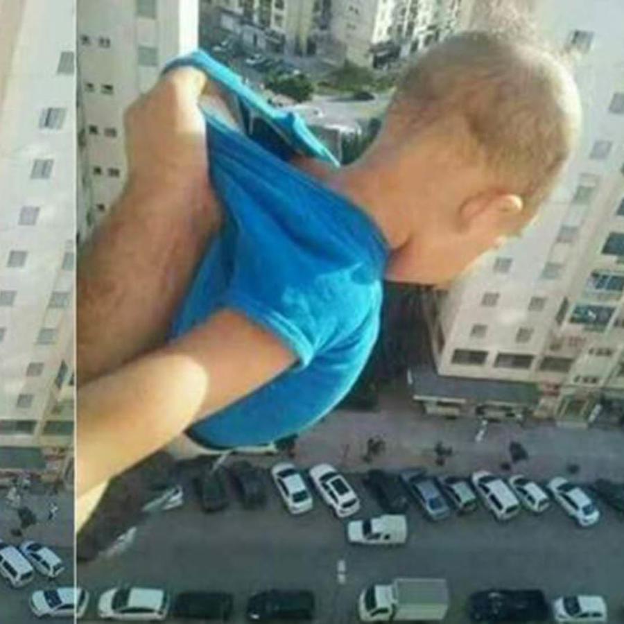 Bebé en riego por likes