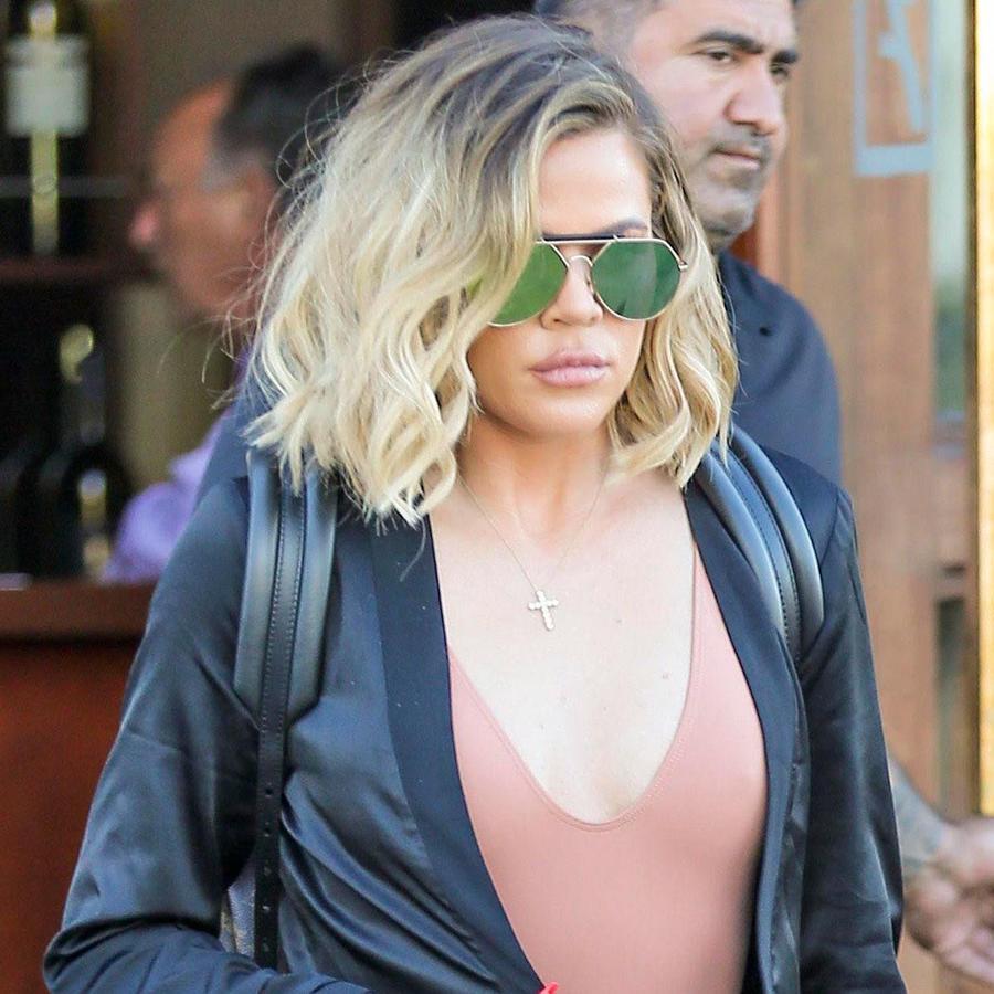 Khloé Kardashian lució enojada pero sexy