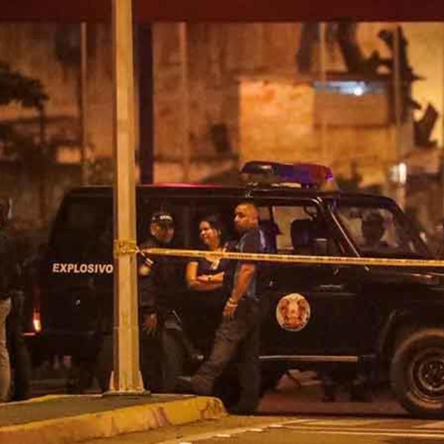 Fuerzas policiales en las calles de Caracas tras ataque de helicóptero