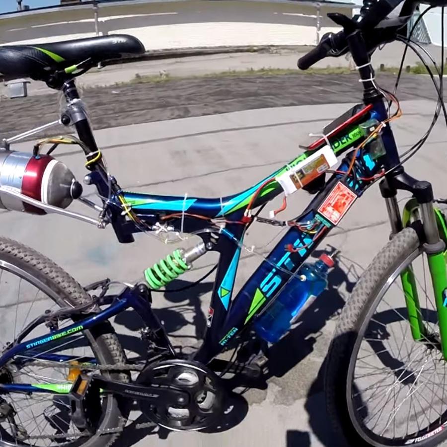 Así funciona una bicicleta con turbina