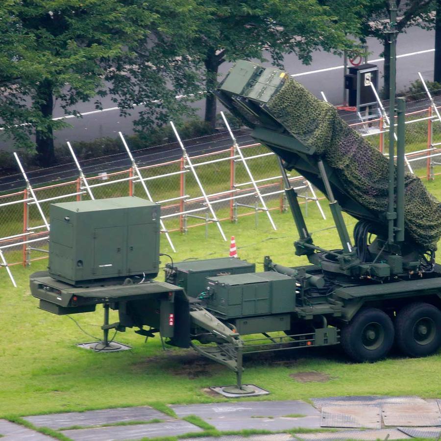 Una unidad para lanzar misiles desplegada en las inmediaciones del Ministerio de Defensa de Japón en Tokio el 10 de agosto del 2017