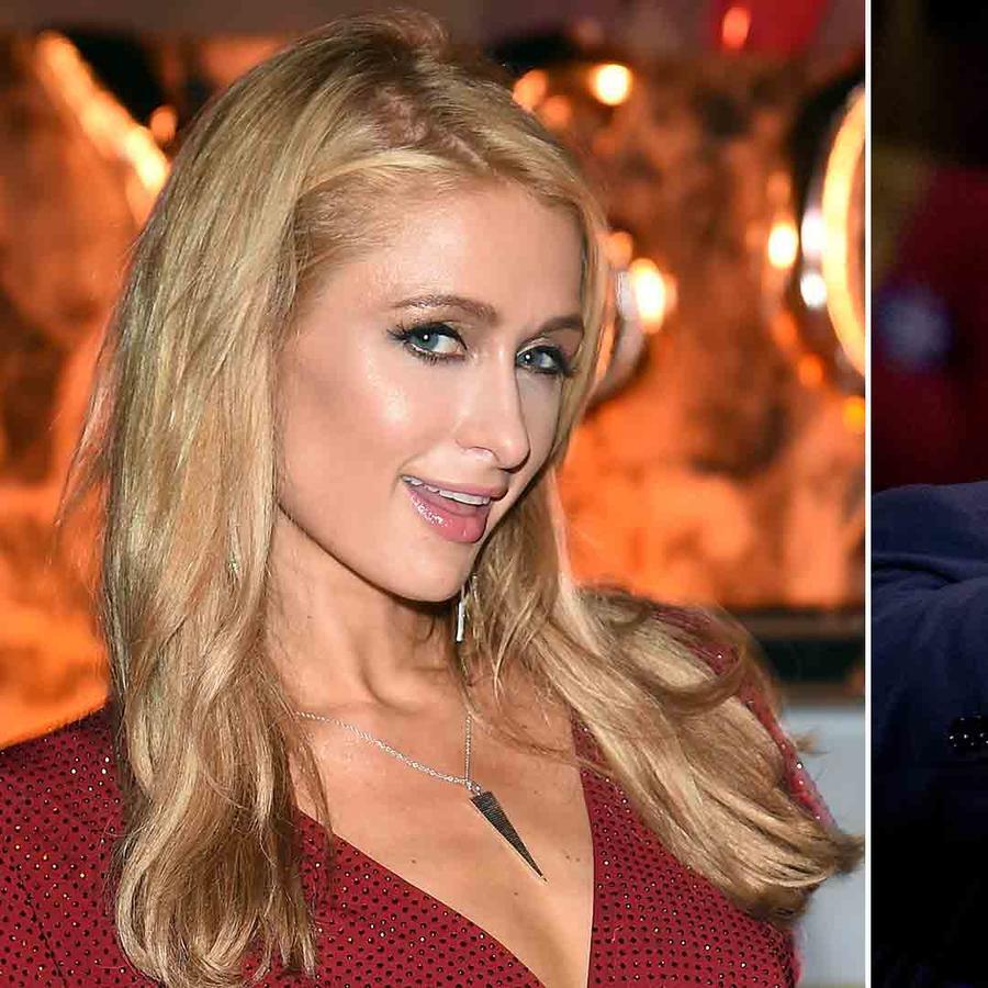 Paris Hilton and Donald Trump