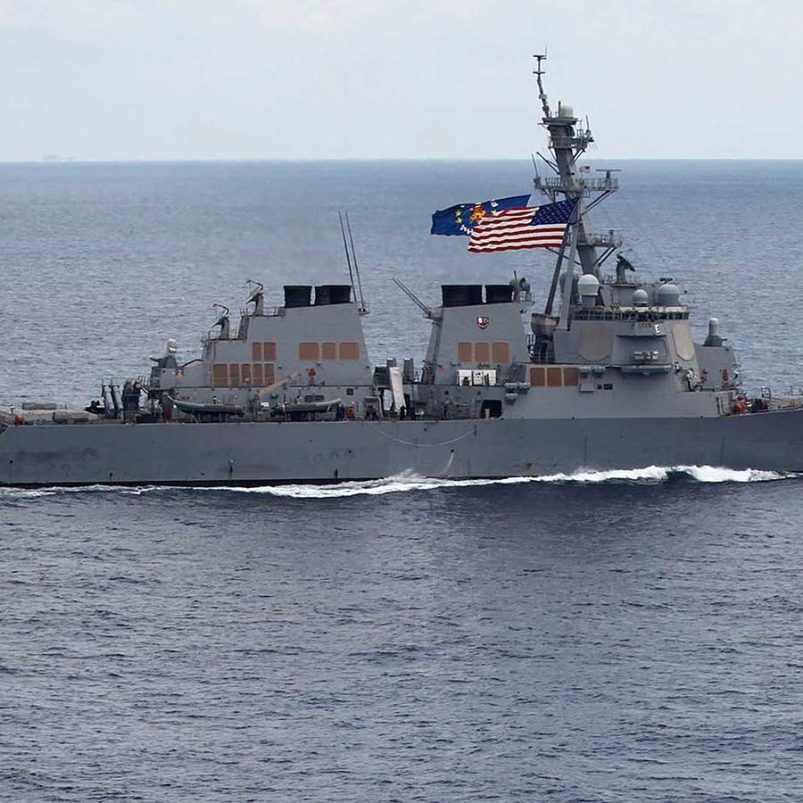 Foto de archivo del destructor USS John S. McCain