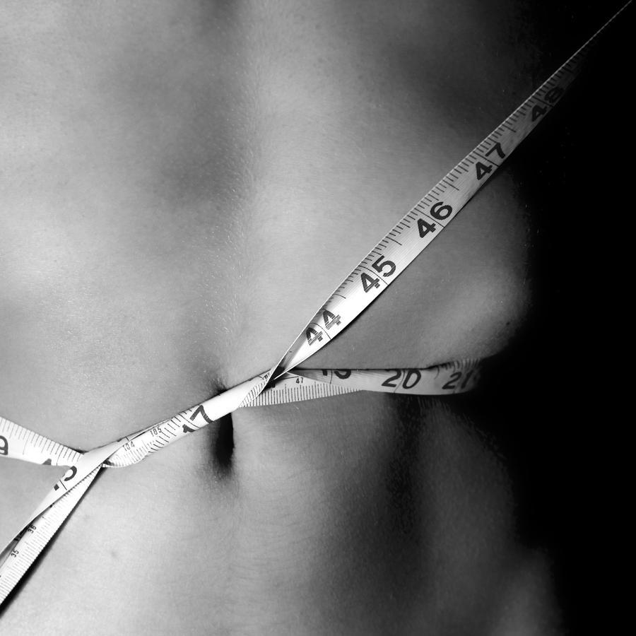 Vientre cinta metrica