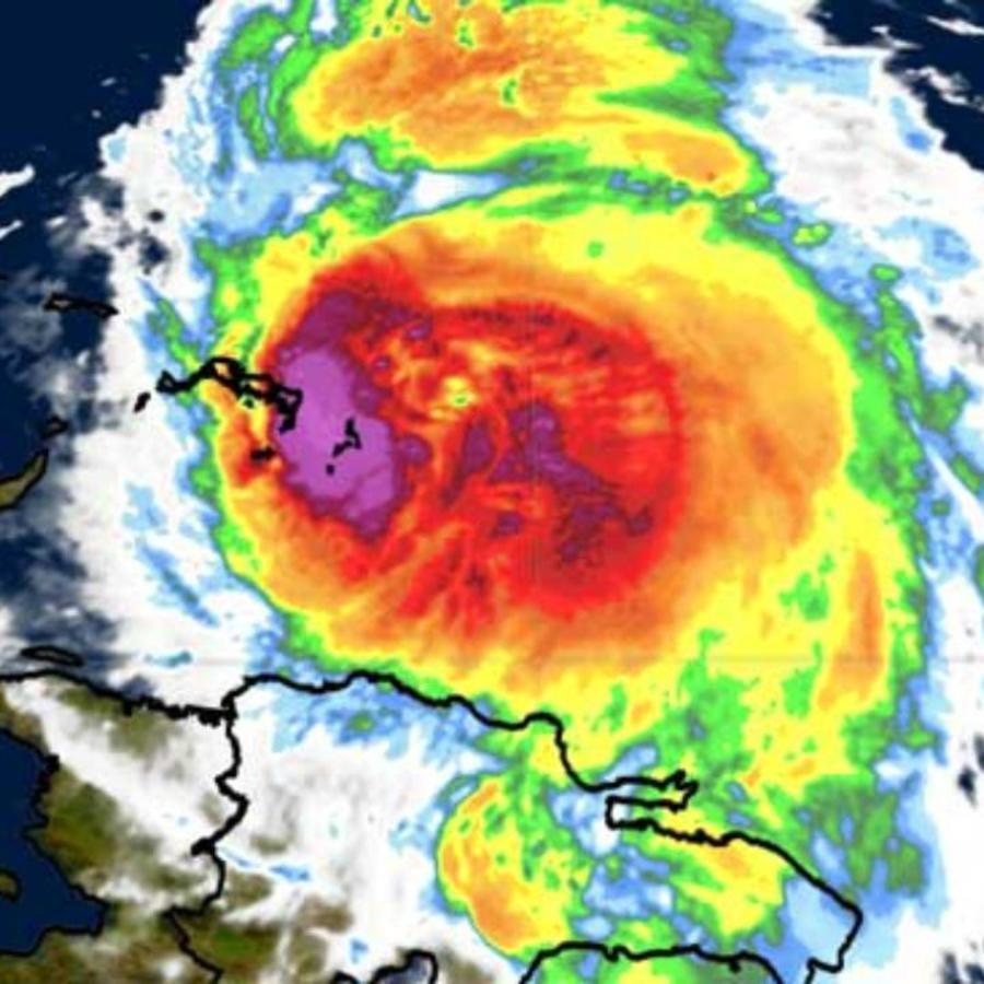 Mapa del huracán María