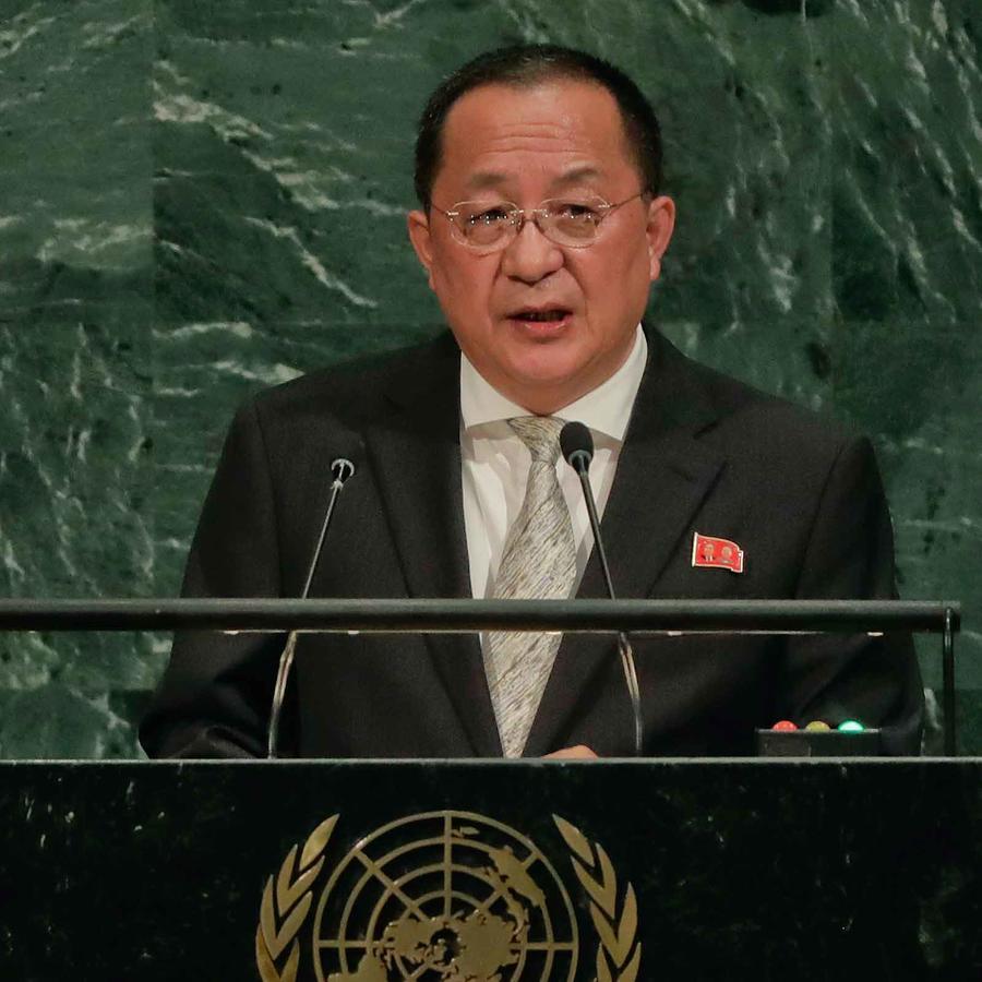 Ministro de Exteriores de Corea del Norte en su intervención ante la ONU