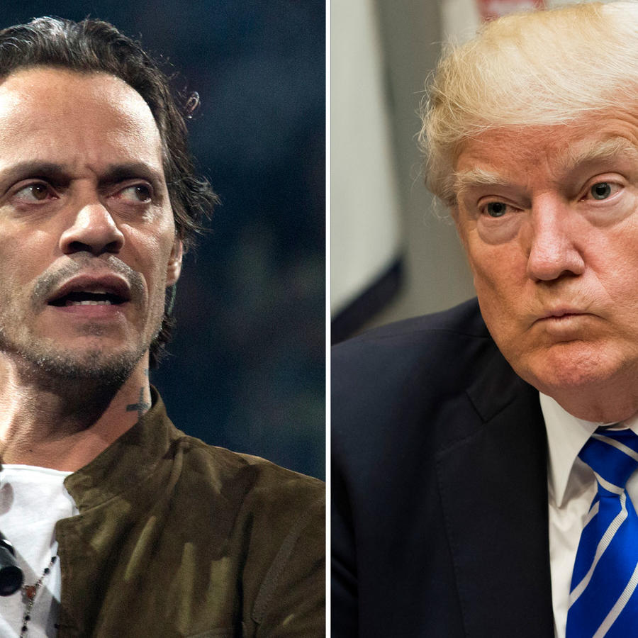 Collage Marc Anthony y Donald Trump