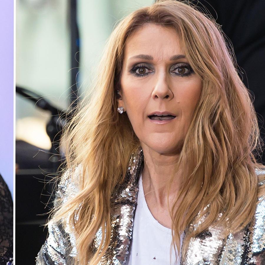 Collage Paris Hilton y Celine Dion