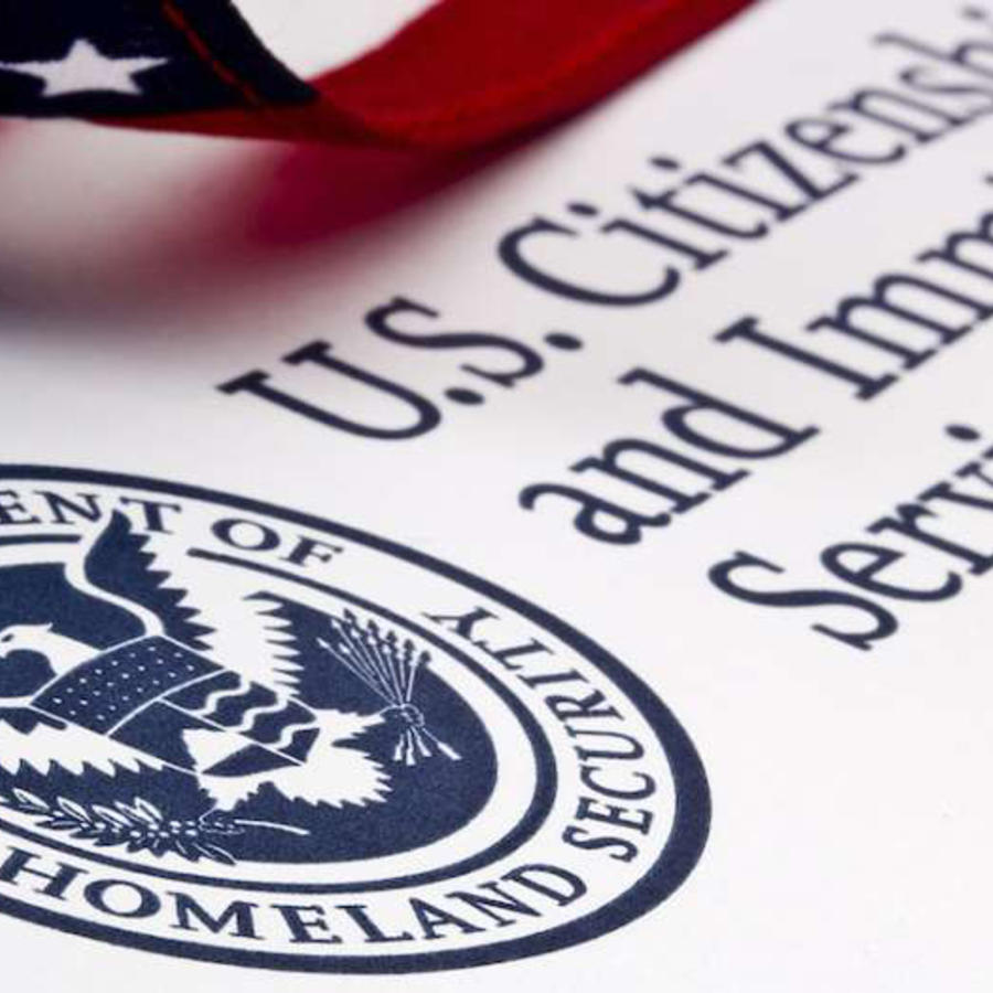 Logo del Servicio de Ciudadanía e Inmigración de Estados Unidos (USCIS, por sus siglas en inglés)