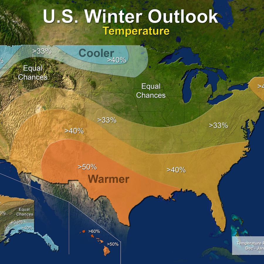 Pronóstico de temperaturas para el invierno.