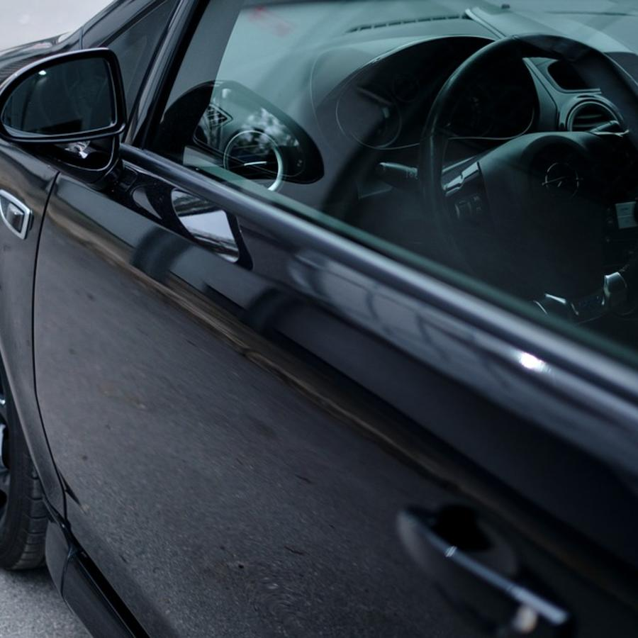 black new car