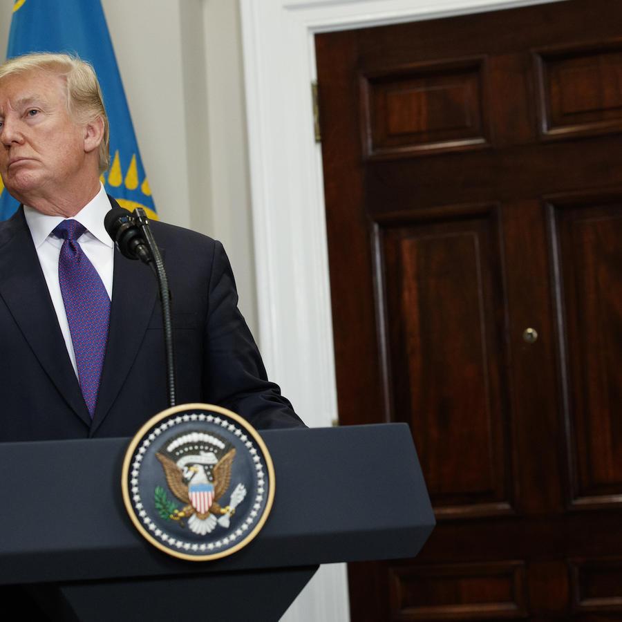 Trump, este martes en una conferencia de prensa en la Casa Blanca.