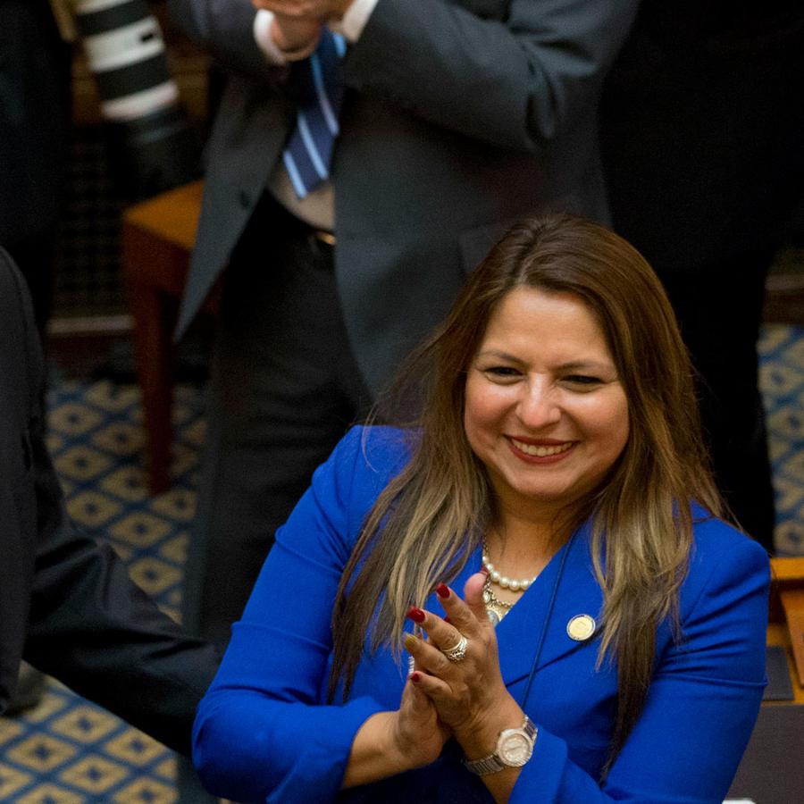 Elizabeth Guzmán, representante demócrata de Virginia, quien dará la réplica en español al discurso de Trump