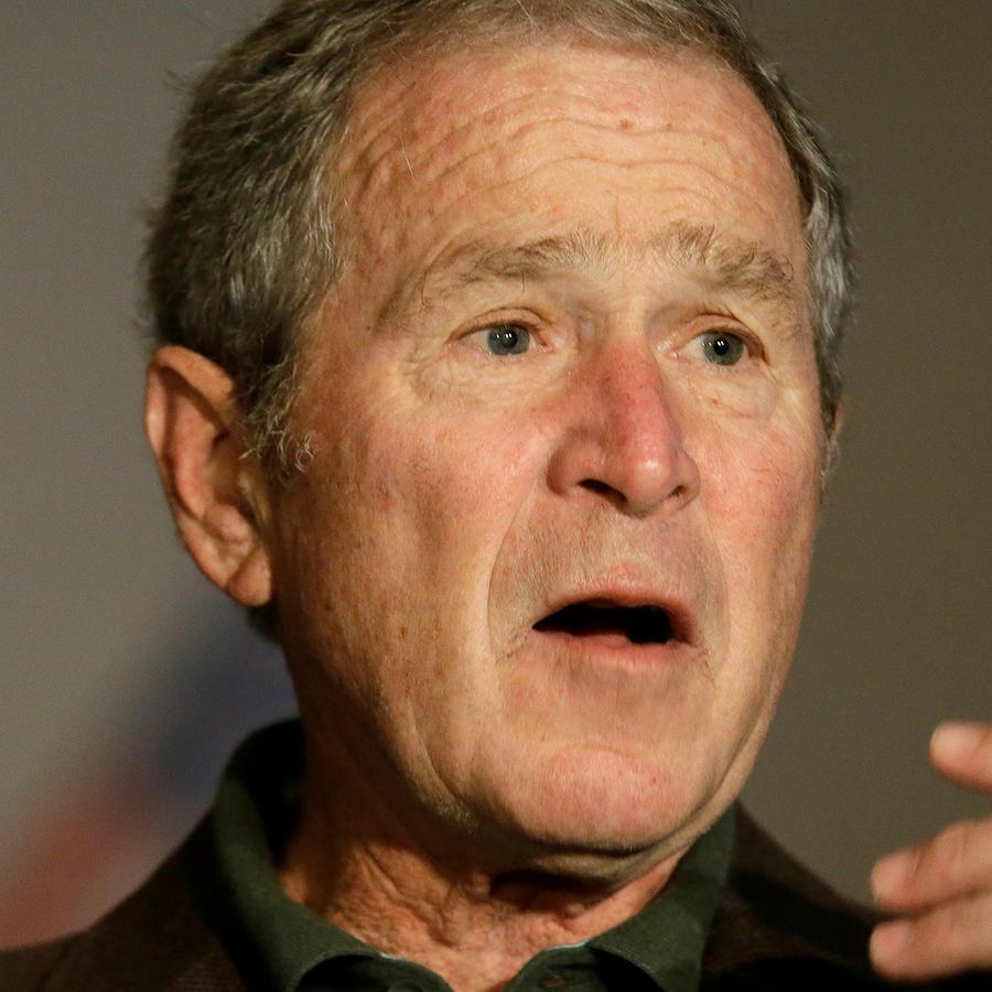 Foto de archivo del ex presidente George W Bush