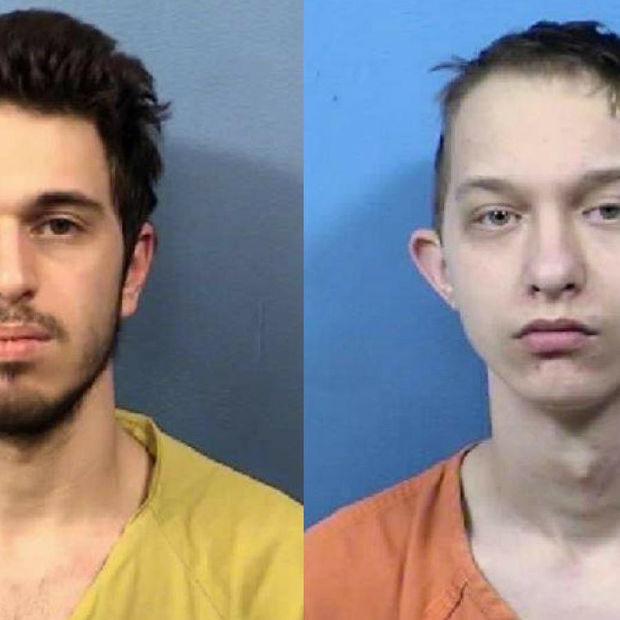 Joshua Miceli (izquierda) presuntamente contrató a Michael Targo (derecha) para asesinar a los padres del primero.