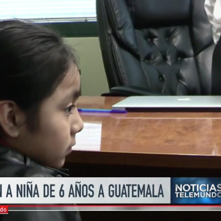 La pequeña Brendi Pérez Hernández fue deportada junto a su madre a Guatemala.
