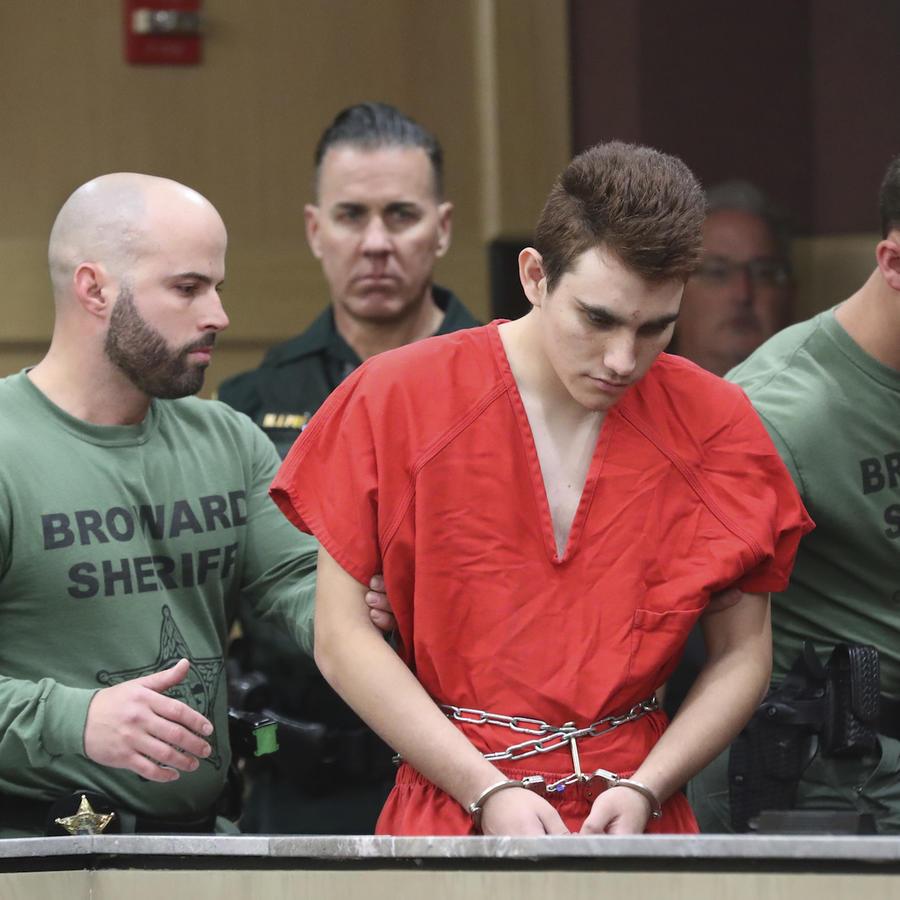 Nikolas Cruz, durante su comparecencia ante la juez el 14 de marzo.