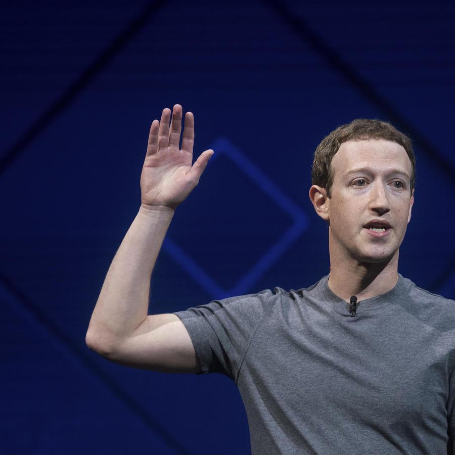 Mark Zuckerberg en una conferencia de Facebook, el 18 de abril de 2017.