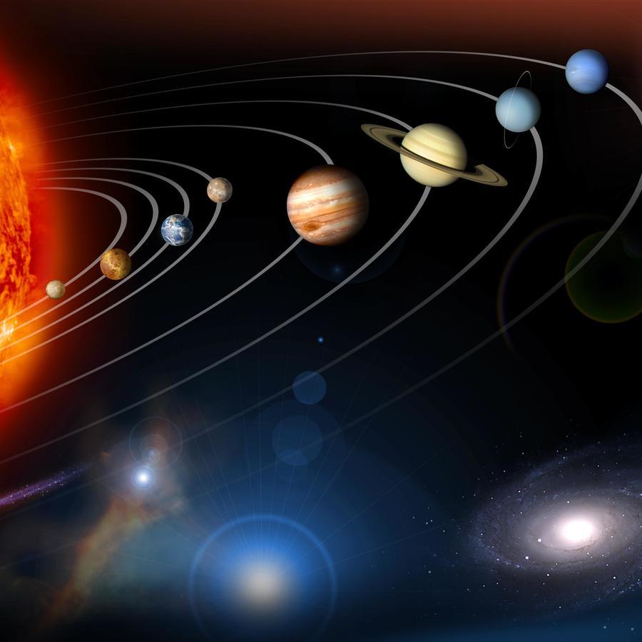 Diagrama del Sistema Solar.