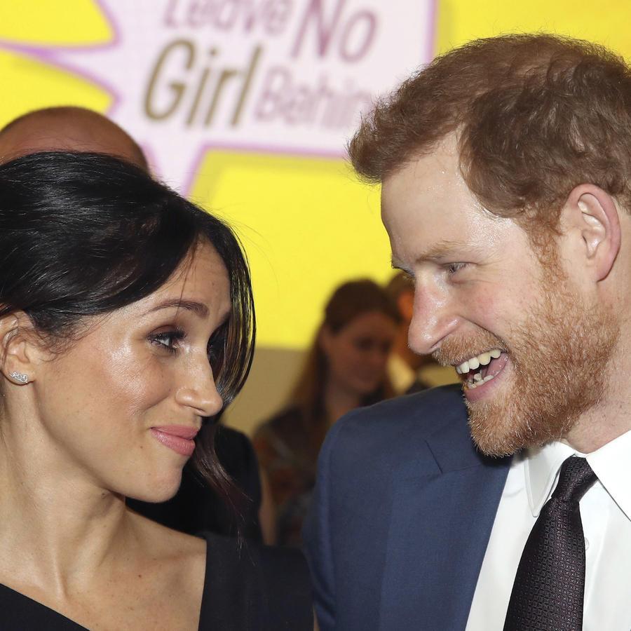 El príncipe Harry y Meghan Markle en un acto en Londres el 19 de abril.