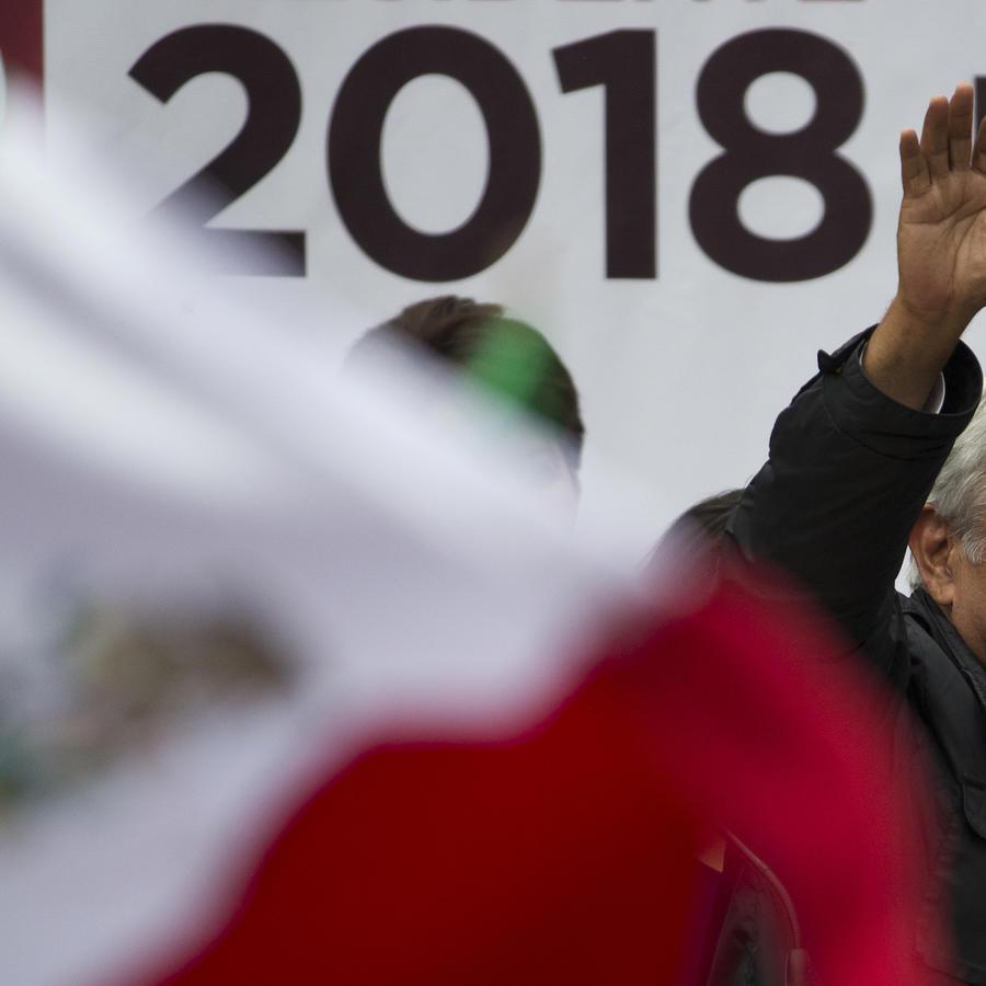 El candidato puntero Andrés Manuel López Obrador, este 7 de mayo en la Ciudad de México.