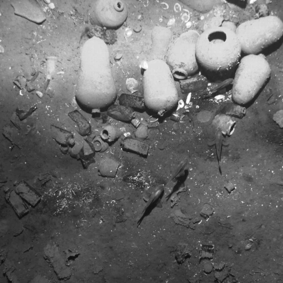 Los restos hundidos del galeón español San José, en el suelo marino cerca de Cartagena, Colombia, en una foto sin fechar.
