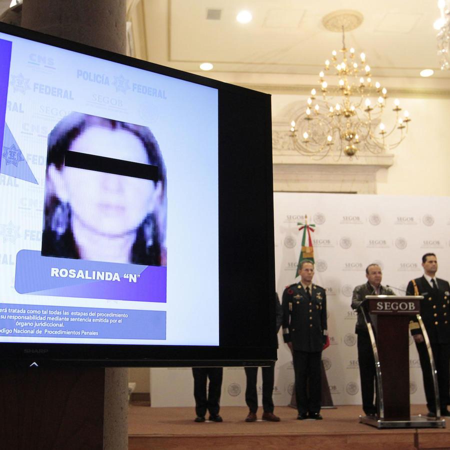 El secretario de Gobernación, Alfonso Navarrete, ofrece declaraciones sobre la detención de Rosalinda González, esposa del líder del Cártel de Jalisco Nueva Generación (CJNG), este domingo en la Ciudad de México.