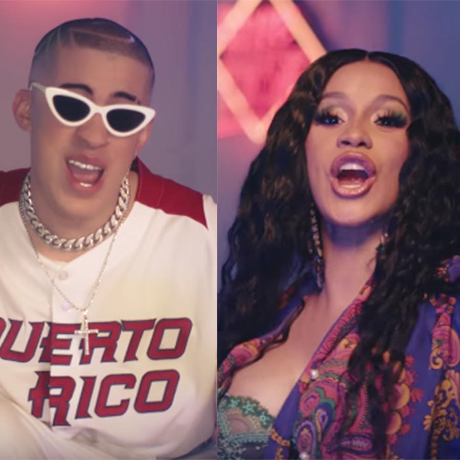 Bad Bunny, Cardi B and J Balvin