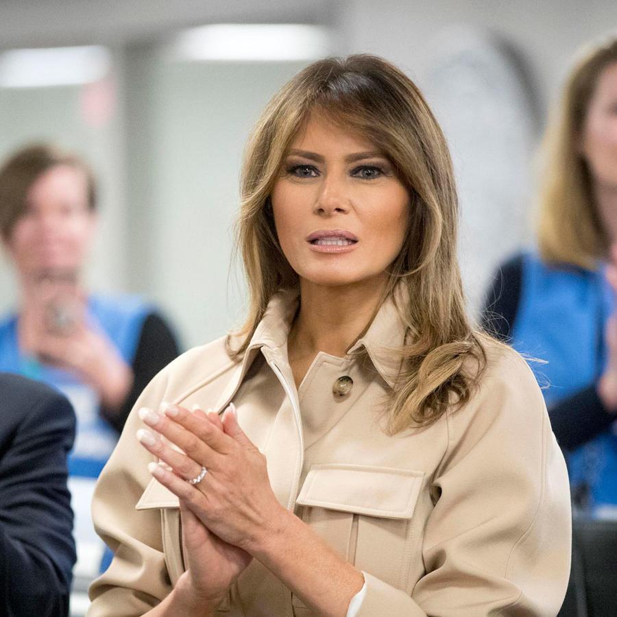 Melania Trump reaparece en público en una reunión con FEMA el 6 de junio de 2018