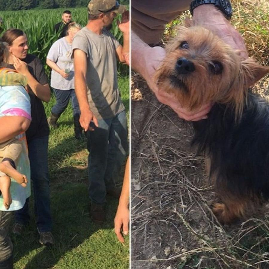 La menor fue encontrada  después de pasar casi 13 horas en un campo de maíz de Missouri.