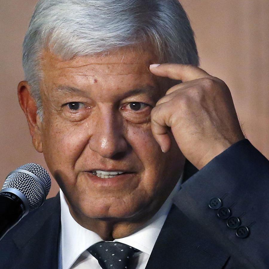 El presidente electo de México Andrés Manuel López Obrador.
