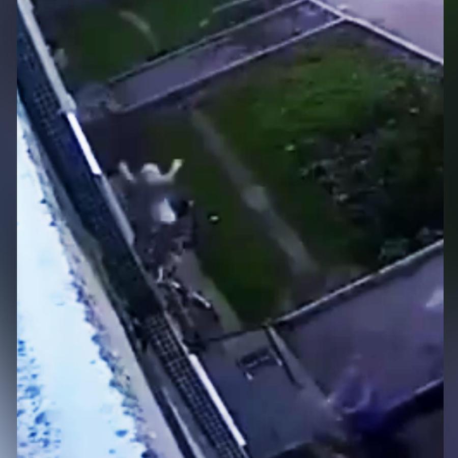 Bebé cae por la ventana