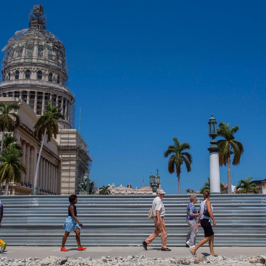 Capitolio de Cuba en obras en una imagen de archivo