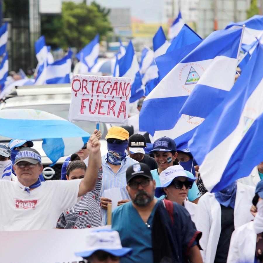 Médicos protestan en Nicaragua