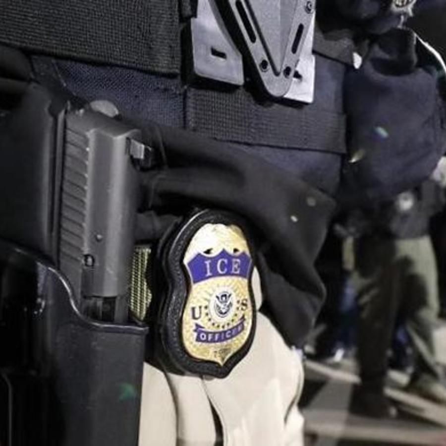 Un agente de ICE, en una imagen de archivo.