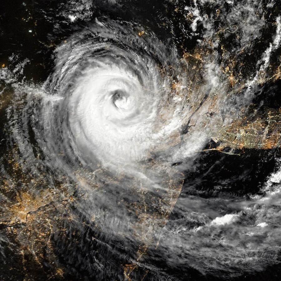 Vista de huracán desde arriba