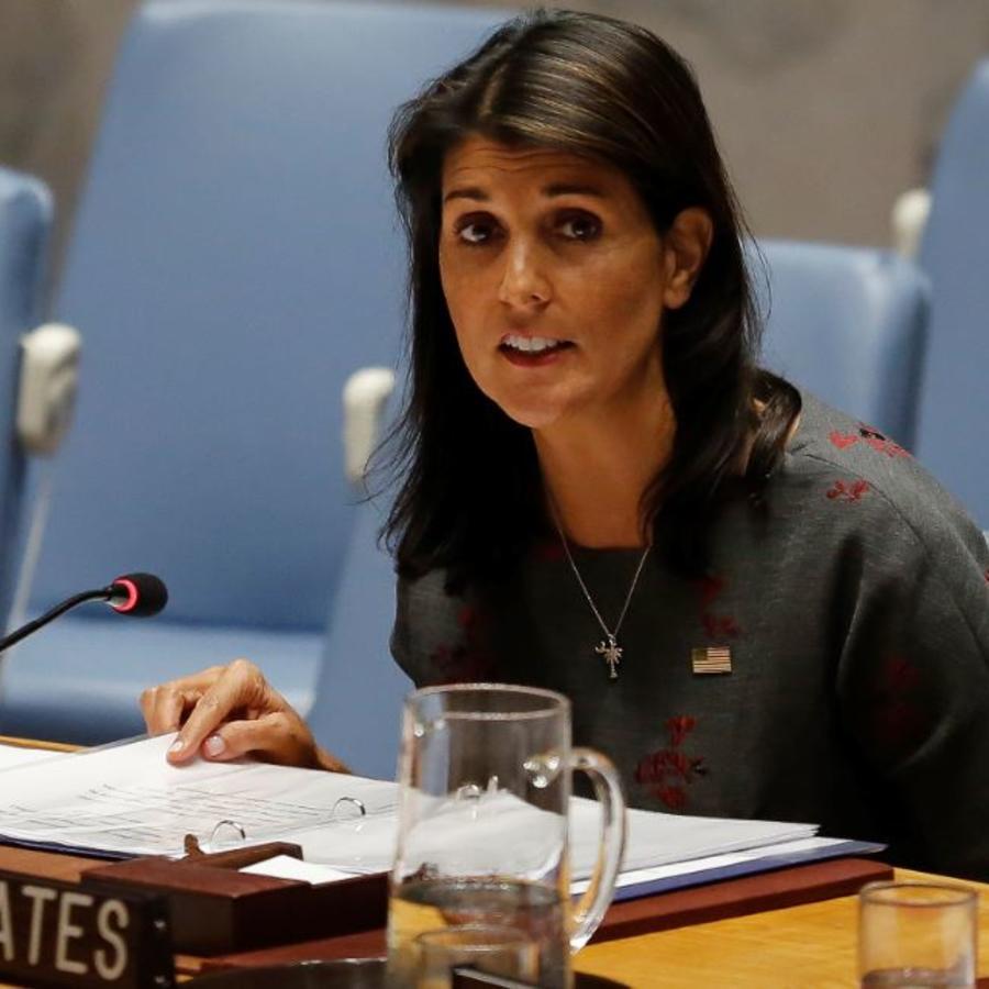 La embajadora de los Estados Unidos en Naciones Unidas, Nikki Haley, en una foto de archivo.