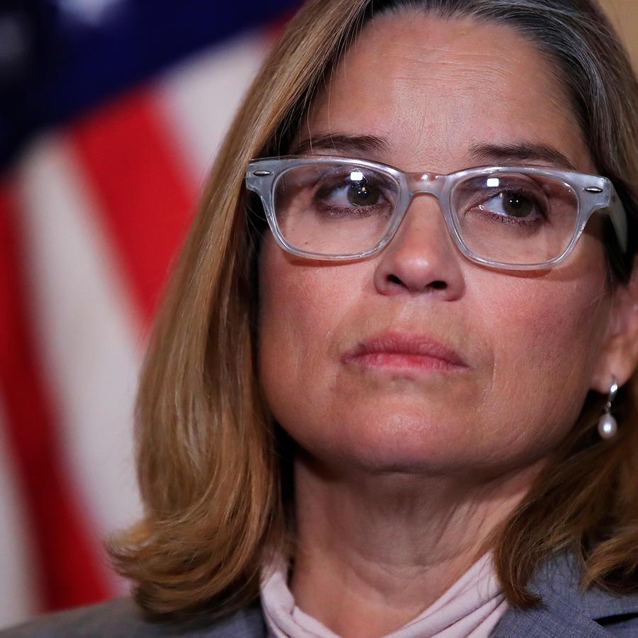 Foto de archivo de la alcaldesa de San Juan, Puerto Rico, Carmen Yulín Cruz