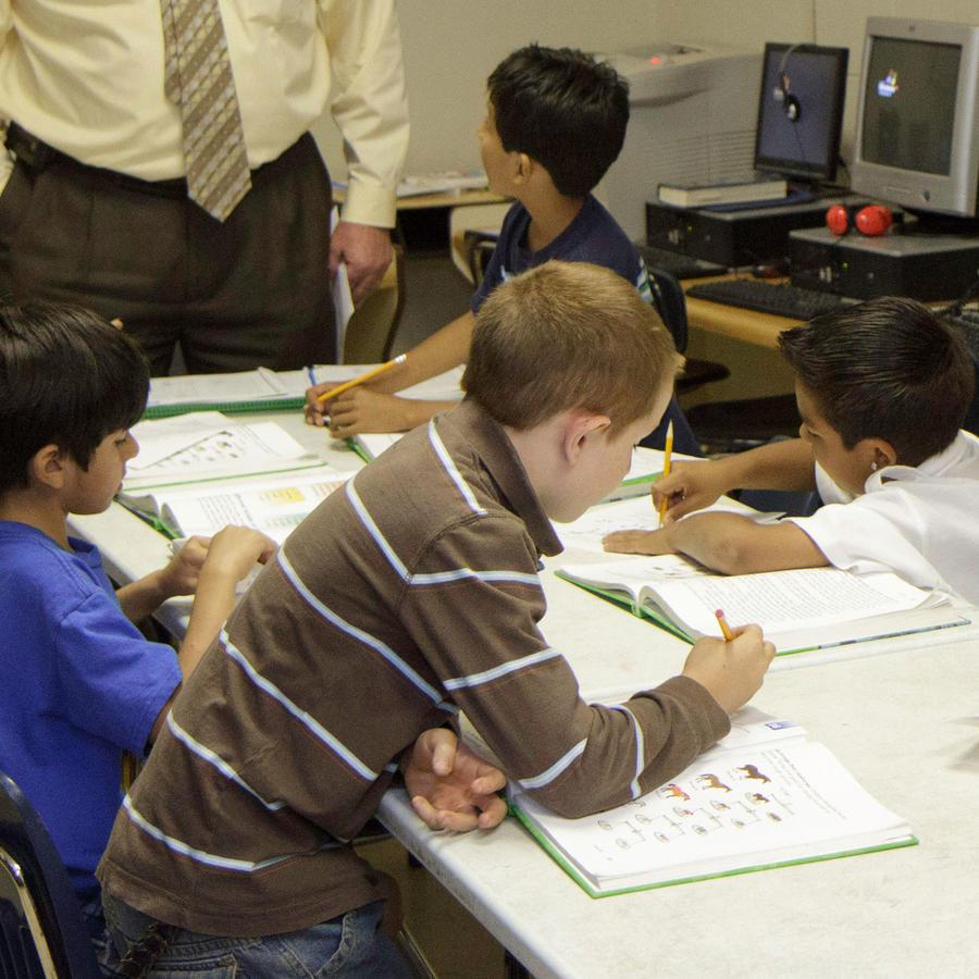 Niños en una escuela en Carolina del Sur en una imagen de archivo