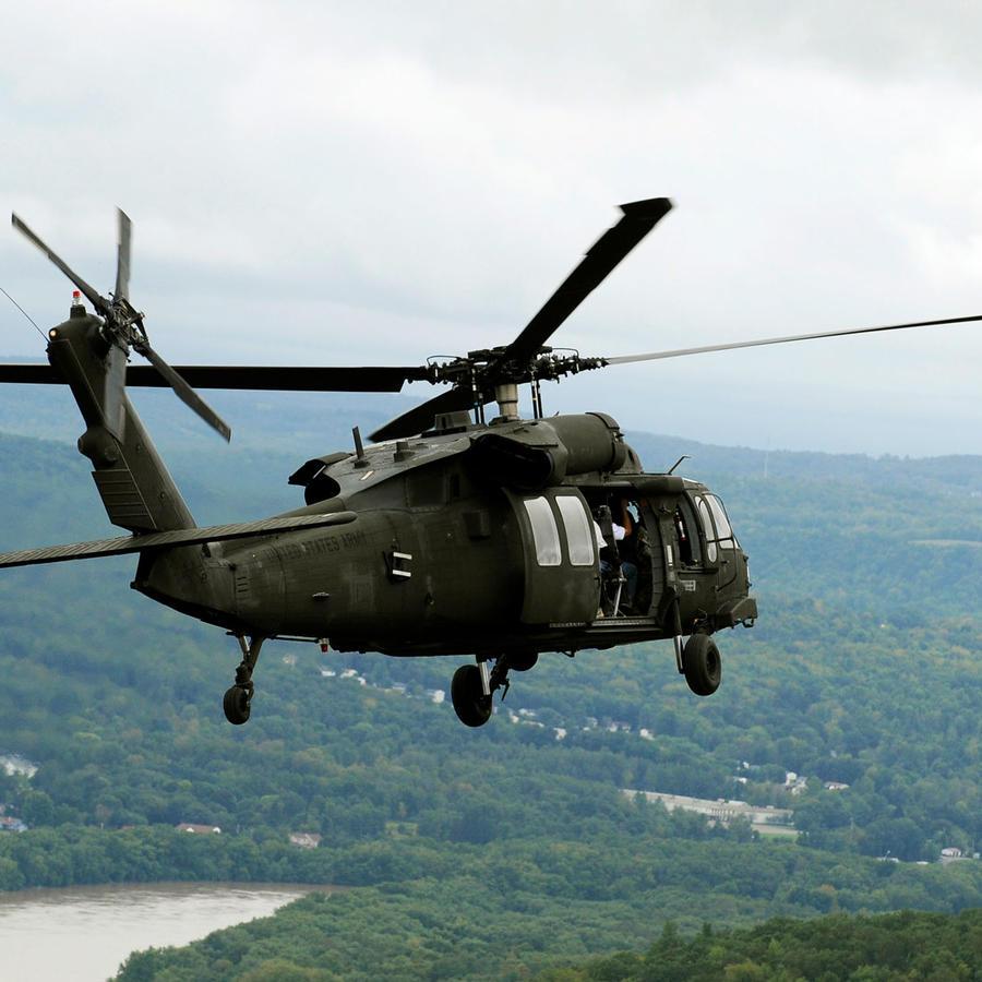 Un helicóptero Blackhawk en una imagen de archivo