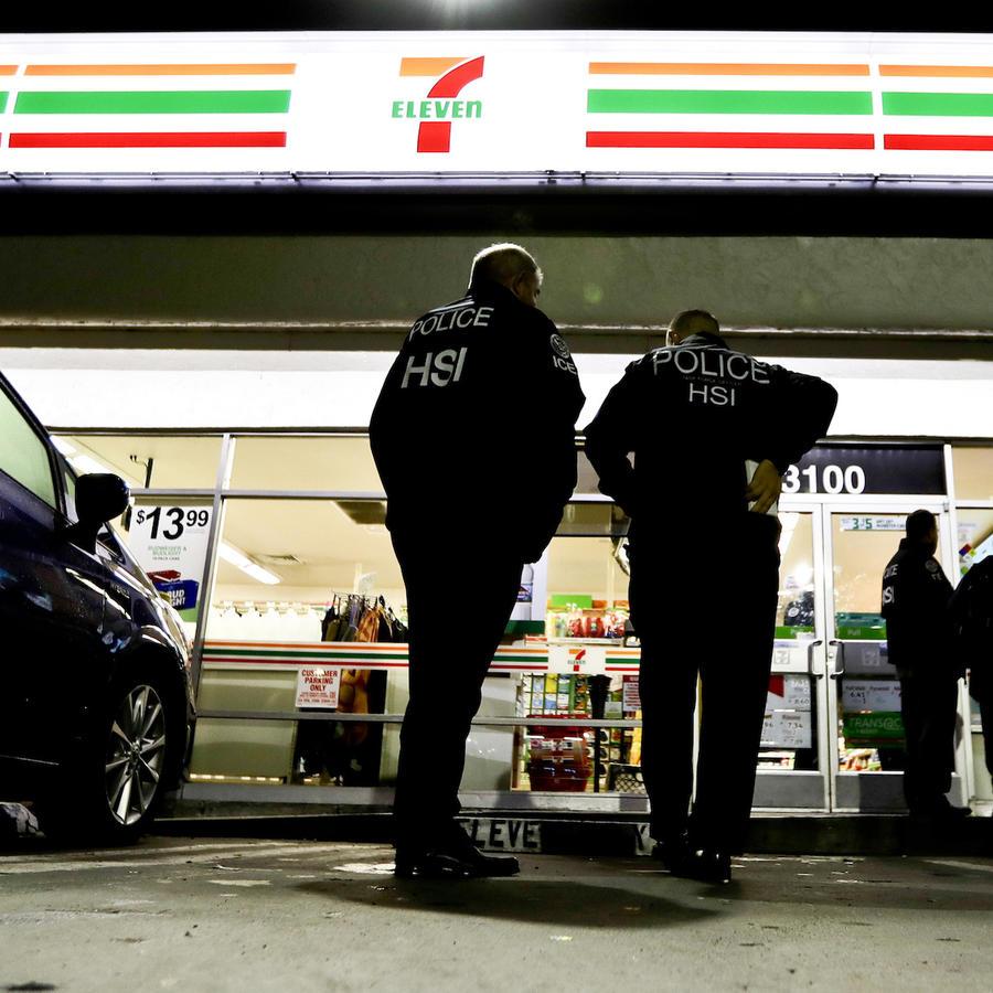Redada de ICE en tiendas de 7-Eleven en enero.