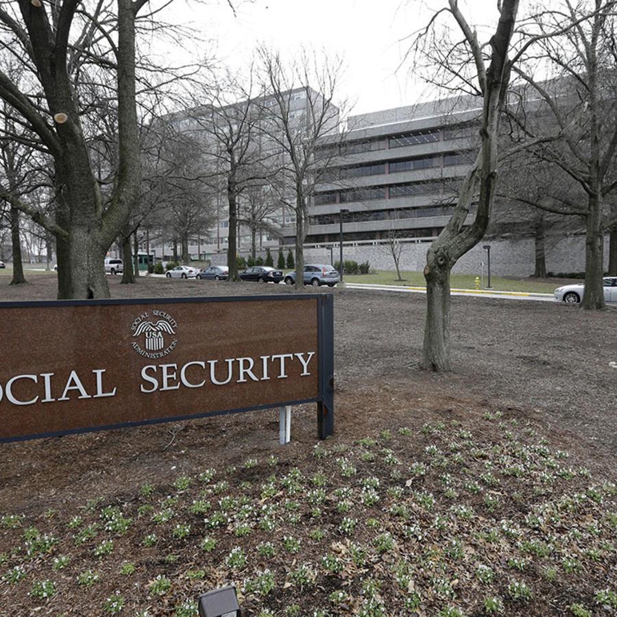 Oficinas de la Administración de Seguridad Social en Woodlaw, condado de Baltimore, Maryland.