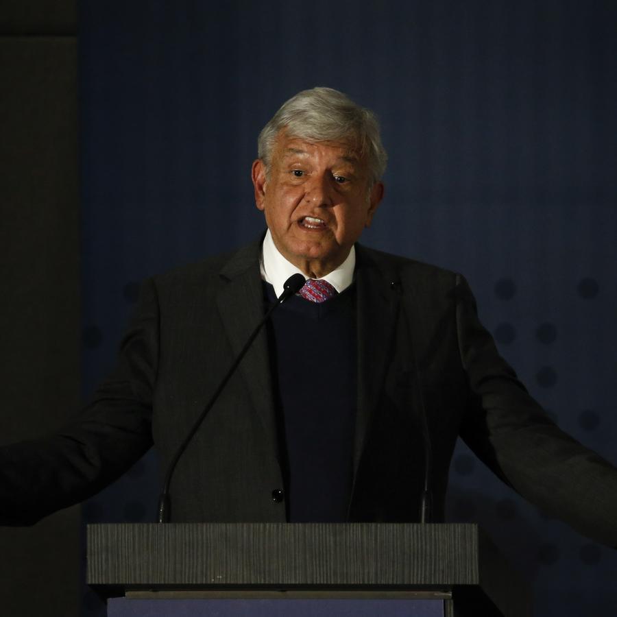 Andrés Manuel López Obrador en la presentación del Plan de Paz y Seguridad en la Ciudad de México.