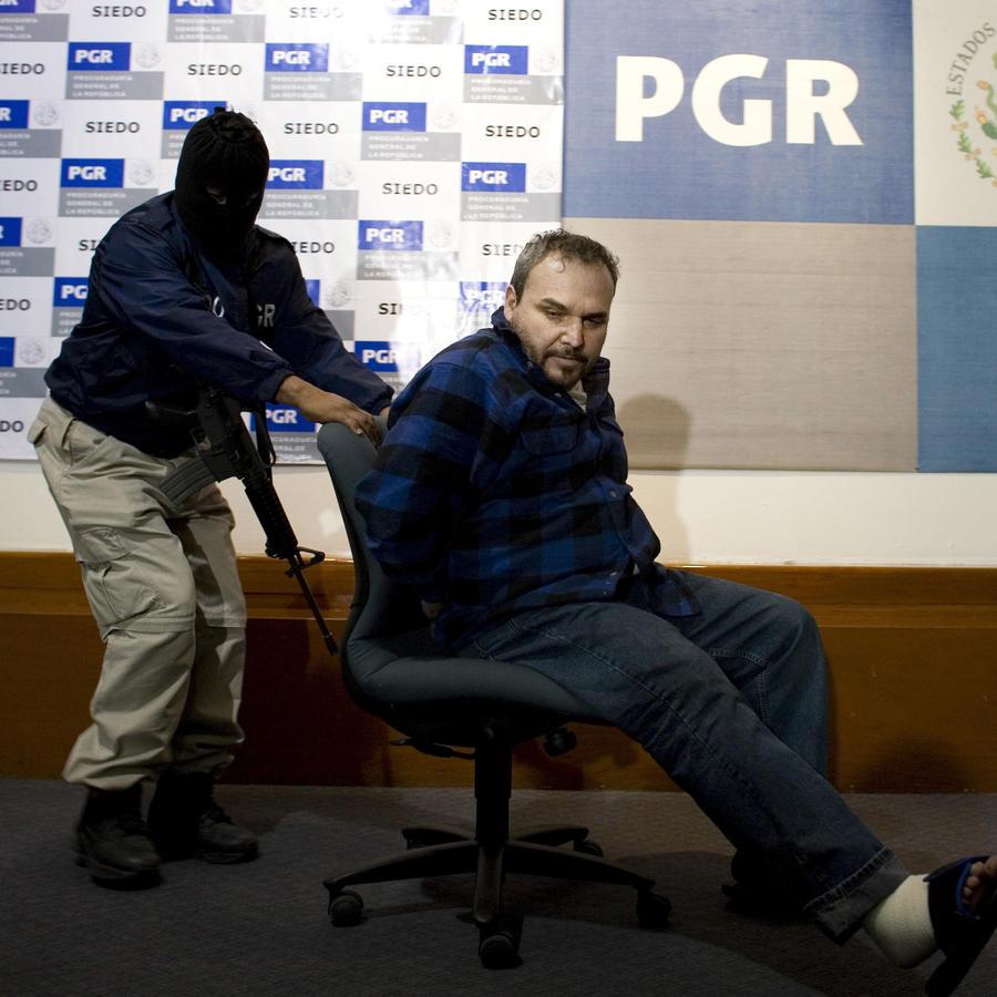 Jesús Zambada García, alias El Rey, presentado por la fiscalía mexicana en una foto de 2008